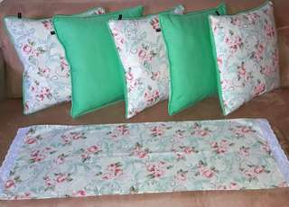 Sarung Bantal Kursi Flower & Lace
