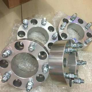 Billet Wheel Spacers Adapters 5 lug 2 inch thick 14x2 studs