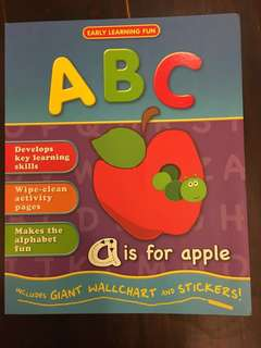 ABC Alphabet Writing Wipe-Clean book