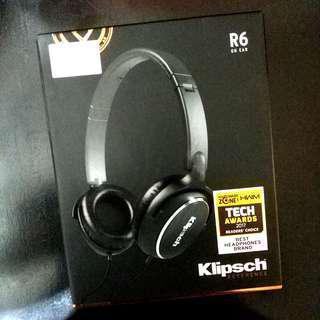 🚚 Klipsch R6 On-Ear Headphones [BNIB SEALED]