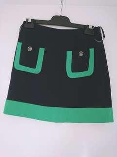 BNWT Forever New Navy & Green short skirt