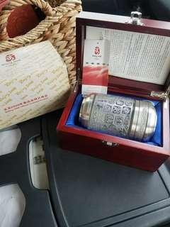 北京奧運篆刻藝術錫罐