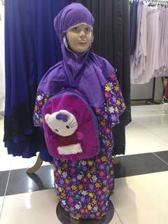 Telekung Budak Hello Kitty with Bag