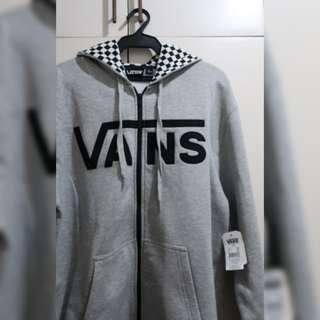 Brand New VANS men's hooded jacket in gray