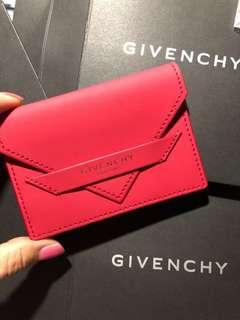 最後一個$118包郵❤️Givenchy Card Holder Matte Red