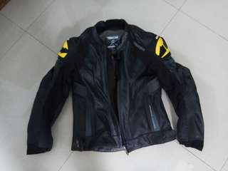 Taichi leather motorcycle jacket