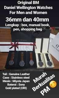 Jam Tangan Pria dan Wanita Daniel Wellington Original BM Lengkap Box dan Gift Box