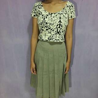 cotton on crop top & skirt