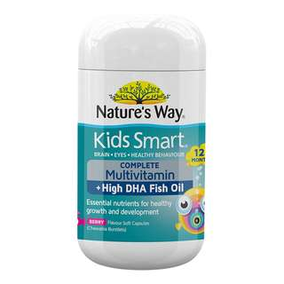 🚚 Nature's Way Kids Smart Complete Multivitamin 50 Chewable Capsules Australia
