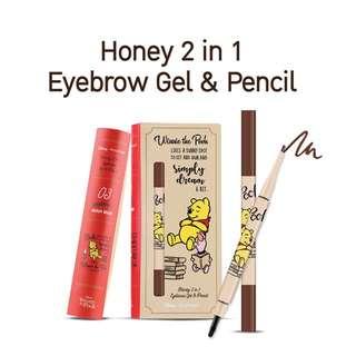 Eye brow gel, eye brow pencil