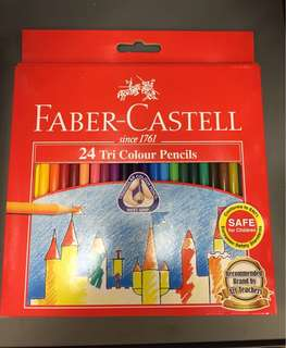 Faber-Castell 24 Triangle Colour Pencils