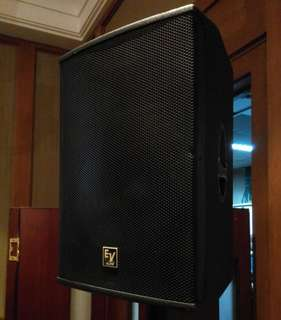 Ev klub ks115 passive speakers with flightcase