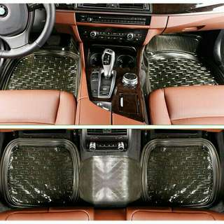 Black 5pcs. Waterproof Universal Car Mat