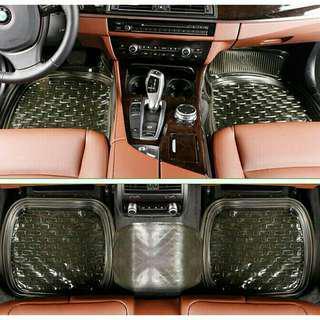 Black 5pcs. Waterproof Universal Car Mat