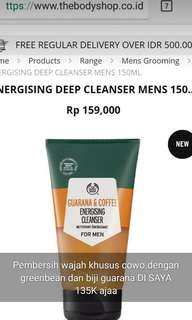 Energizing deep cleansing wash