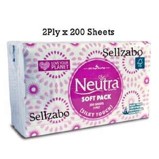Neutra Facial Tissue Papers 2-Ply 200 Sheets Sellzabo