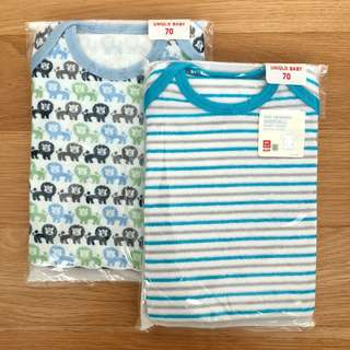 UNIQLO Baby Terry Shortall (Short sleeves) (2pcs)