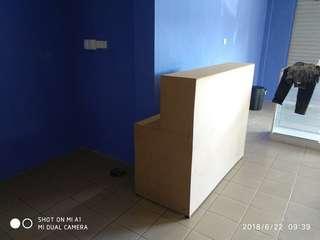 Simple Boutique Cashier Desk ( Boltless ) Custom Made