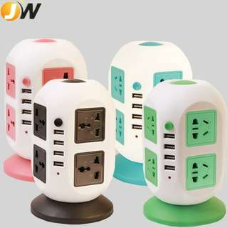 Worldwide Travel Adapter AU UK US EU Power Plug Universal Wall Surge Protected Adaptor Charger with USB Charging Port International Converter Socket - intl
