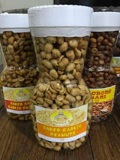 Baked  Garlic/Spicy Peanuts, Adobo Peanuts, Sweet Tamarind,  etc..