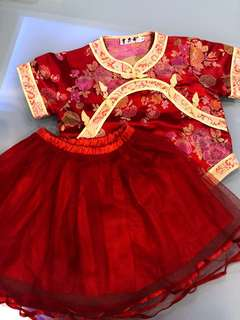 Chinese top & skirt for girls
