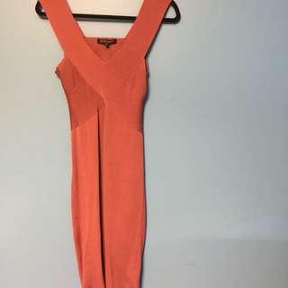 DYNAMITE Body-Con Pink Wrap Dress (Size M)