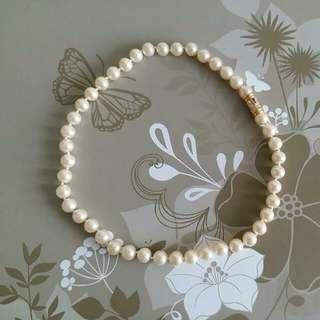 仿珍珠頸鍊,長度約41cm,可配同欵手鍊$39。