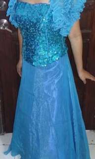 SPARKLING BLUE GOWN FOR SALE