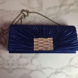 Blue Elegant Clutch