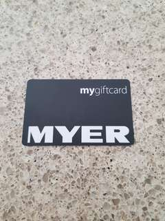 Myer giftcard $100 value