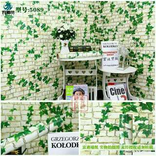Wallpaper Sticker Dinding 10 Meter - Bata Daun