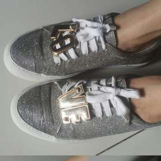 H&M Silver LOVE Sneakers
