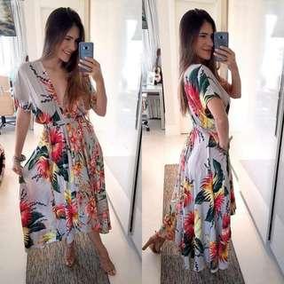 Deep Printed Dress