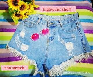 denim highwaist short