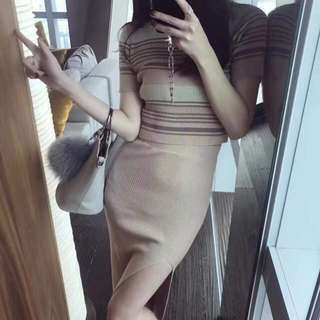 Updated! Knitted Bodycon Terno