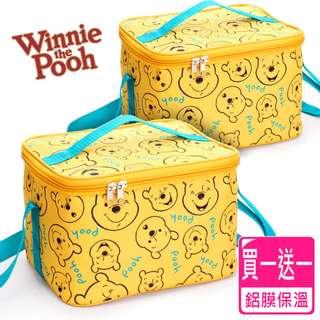 [限時優惠【迪士尼Disney】微笑維尼保冰溫野餐休閒袋(買一送一)