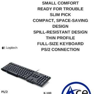 LOGITECH K100 PS2 CLASSIC KEYBOARD