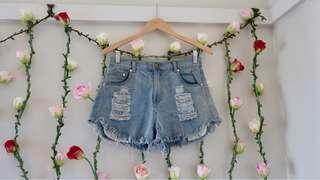 High waisted shorts