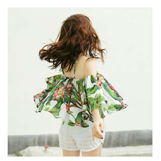 🚚 熱帶叢林露肩衣