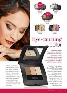 Powder Eyeshadow trio wet/dry formula