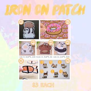 Cute Iron-On Patch [NCUBE APPARELS]