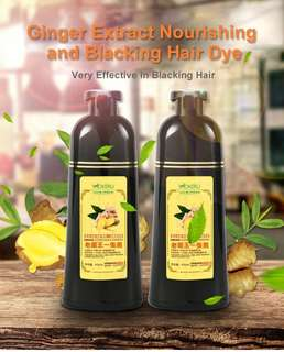 Mokeru BLACK Hair Ginger Herbal Dye Shampoo 100% Natural, FREE from chemicals