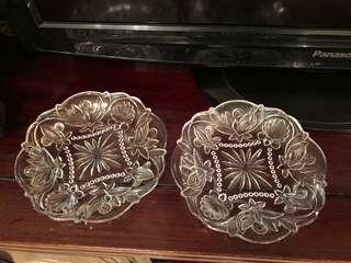 Vintage depression glass dessert plates