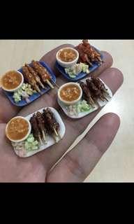 Handmade Miniature : Satay