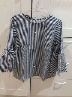 ZARA STRIPE BLOUSE