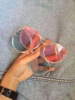 Cute Baby Pink and Blue Hot Transparent Sunglasses