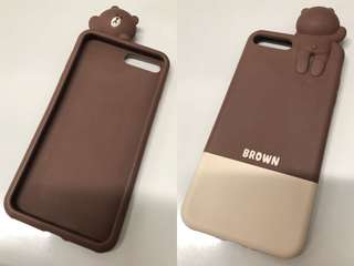 Linefriends brown 熊大iPhone 7/8plus+電話殻
