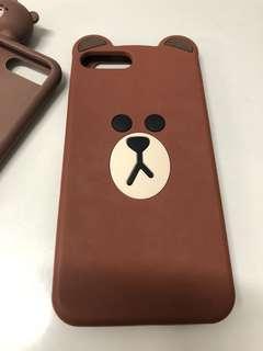 Linefriends brown熊大iPhone 7/8plus電話殻