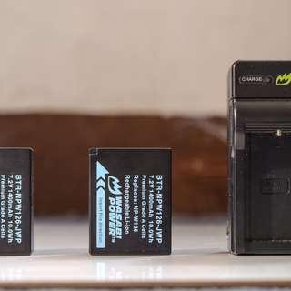 Wasabi battery package bundle for Fujifilm