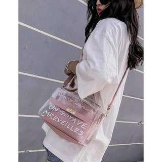 Kstyle Fashion Transparent Sling Bag